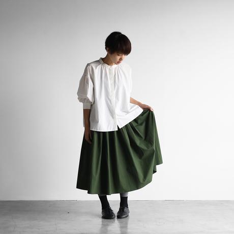 オーガニックコットンロングスカート(エバーグリーン)【レディス】U402