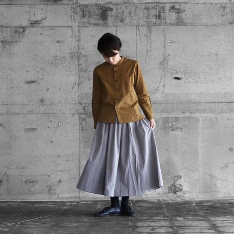 オーガニックコットンロングスカート(ウォームグレー)【レディス】U402