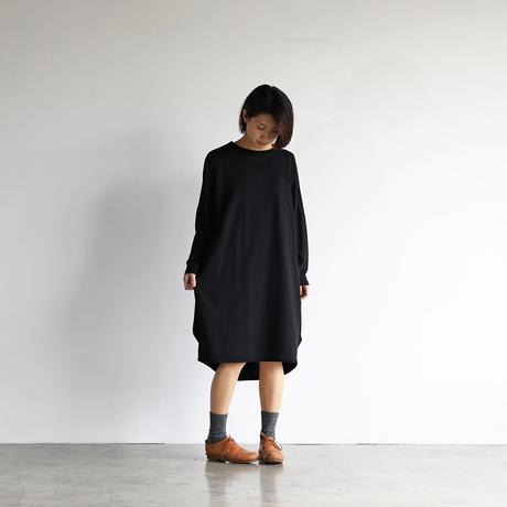 [HUIS in house]SUVIN COTTON長袖コクーンワンピース(kuro)【レディス】CS301