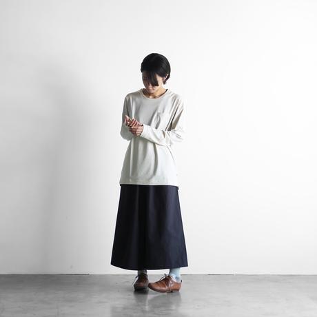 HUIS×yohakuギザコットン長袖カットソー(ベージュ)【ユニセックス】