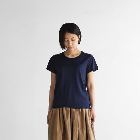 HUIS×yohakuギザコットン半袖カットソー(ダークネイビー)【ユニセックス】HY601