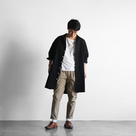 やわらかコットンロングシャツ(ブラック)【ユニセックス】