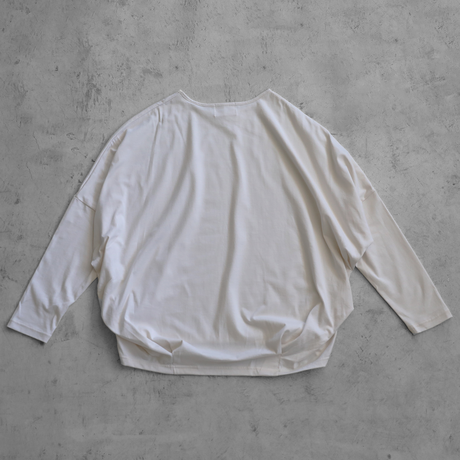 [HUIS in house]SUVIN COTTON長袖コクーンカットソー(ivory)【レディス】CS202