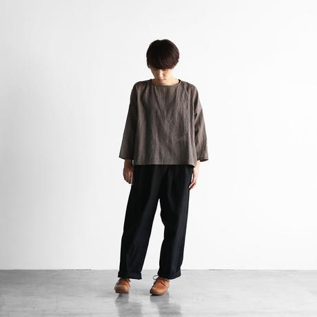 ウォッシャブルウールワイドプルオーバー(ブラウングレー)【レディス】U609