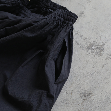 コードレーンロングスカート(黒ストライプ)【レディス】U402