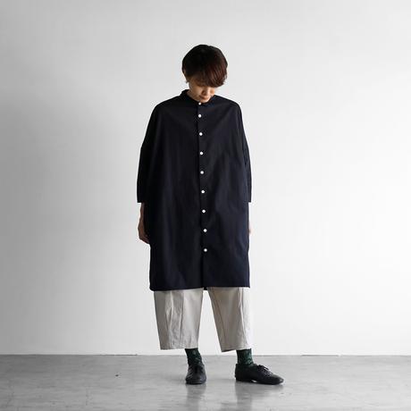 ダウンプルーフコットンロングシャツ(ダークネイビー)【ユニセックス】004