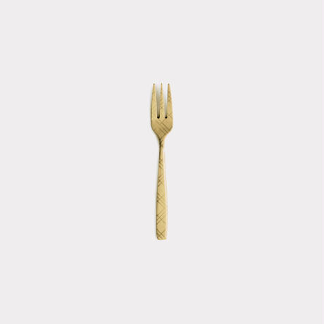 DRESS-GD-Check-Tea Fork【ドレス - ゴールド-チェック-ティーフォーク】