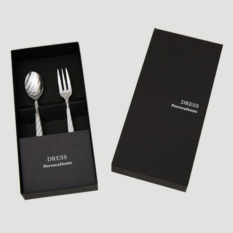 DRESS TeaSpoon&TeaFork 2pcs.Set Silver【ティースプーン&ティーフォーク2本セット シルバー】