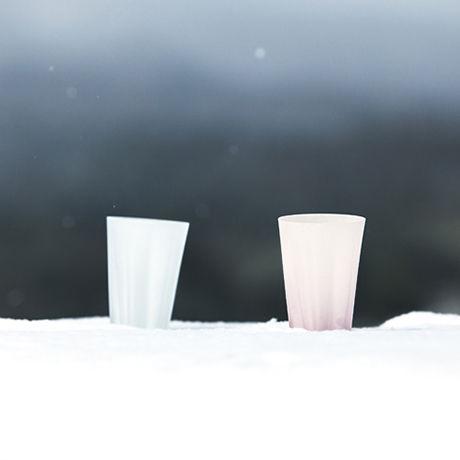 SAKURASAKU YUKISAKURA TUMBLER【さくらさく雪桜タンブラー/ クリア】