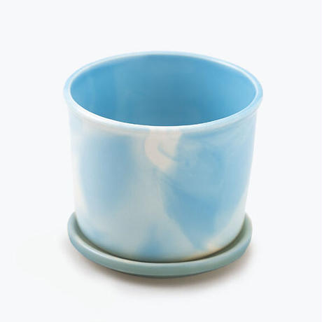 Mug Pot Marble Sky Blue 【マグポット マーブルスカイブルー】