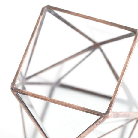 Square  Twist Vase  [Copper]