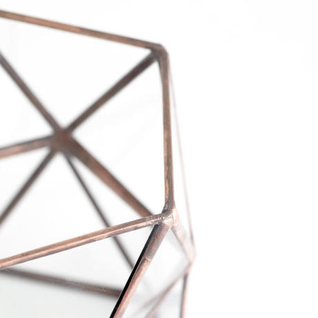 Pentagonal  Twist Vase  [Copper]