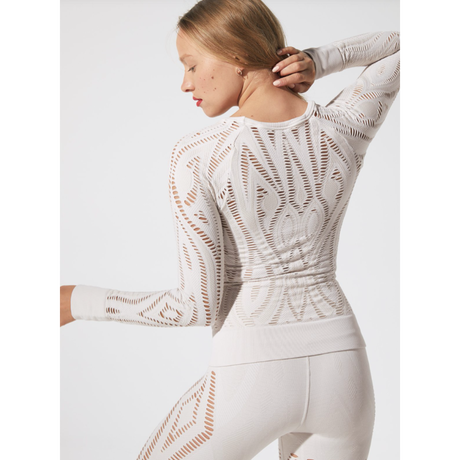 【SALE】Serenity Shred Long Sleeve Top /white sand