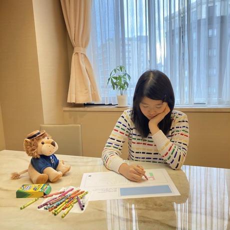 【ちびっこアーティストオリジナルマット】クレヨン付!