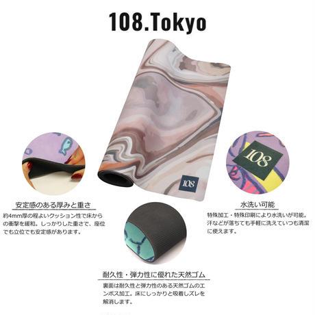 【名入れ可能!!】ヨガマット【タイダイチョコ】108original