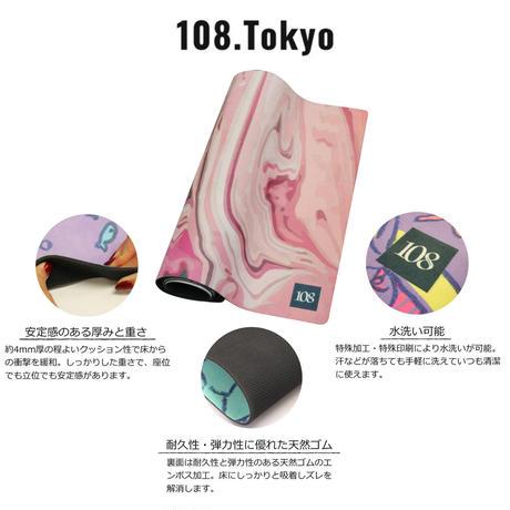 ヨガマット  【タイダイピンク】108original