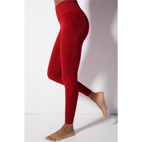 Polished Python Legging/Crimson