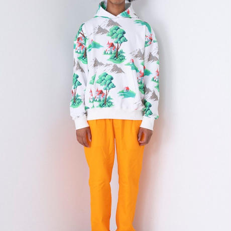 WATARU TOMINAGA / Hooded Sweatshirt / Large Landscape Print