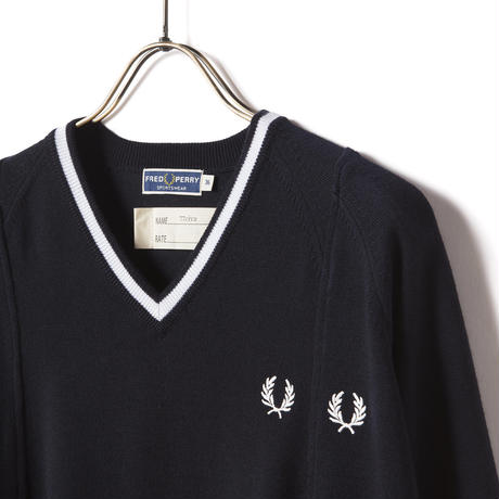 FRED PERRY x 77circa / SINGLE V-NECK JUMPER