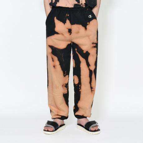 Bleached Dye Champion USA Sweatpants / BLACK