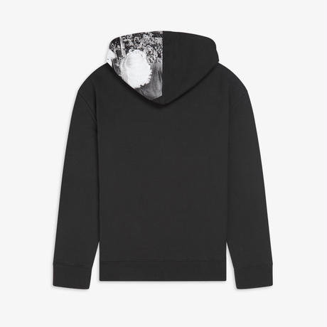 FRED PERRY x RAF SIMONS / PRINTED HOODED SWEAT / BLACK