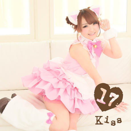 Frill cat maid Pink × White