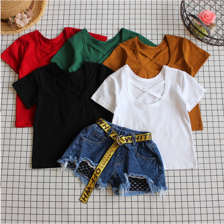 kids★back crossing T-shirt