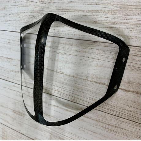 【セット商品】開繊 Mサイズ カーボンマスクカバー+インナーマスク ダクトタイプ ※受注生産(7日営業日)