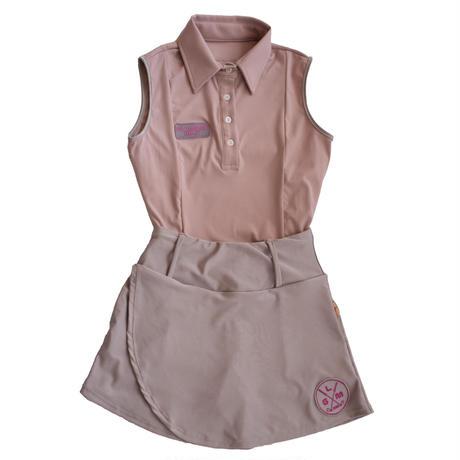 GOLF nosleeve shirt Fit(Dusty pink)