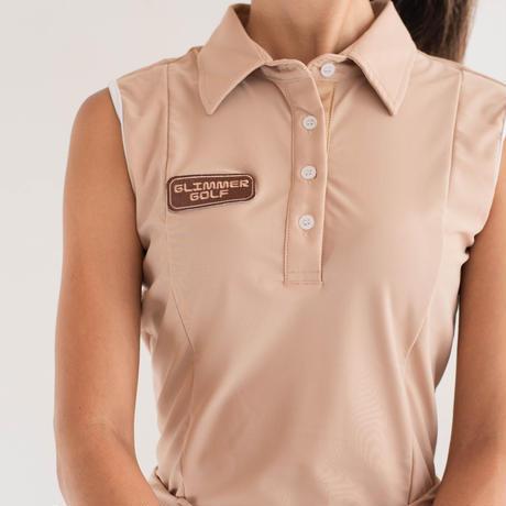 GOLF nosleeve shirt Fit(beige)