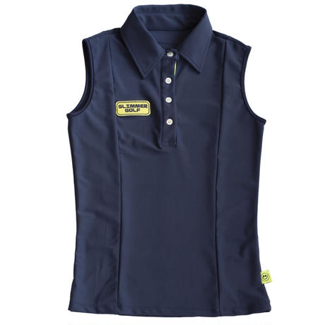 GOLF nosleeve shirt Fit(NAVY)
