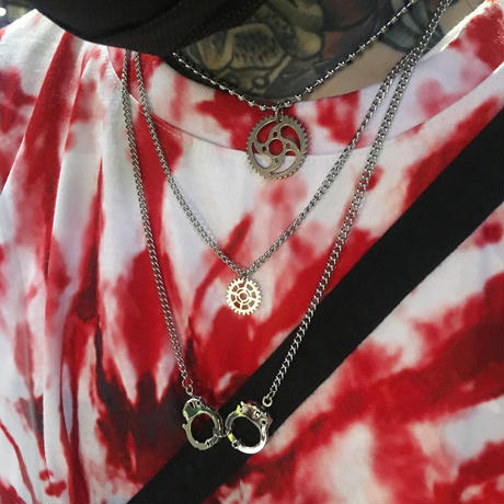 DOBLE GEAR NECKLACE SET
