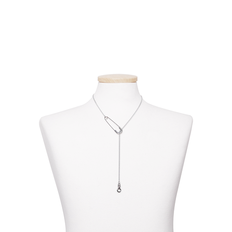 SAFETYPIN ZIPPER NECKLACE