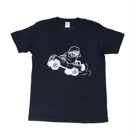 Revolving Runturn Tシャツ  BLACK/WHITE