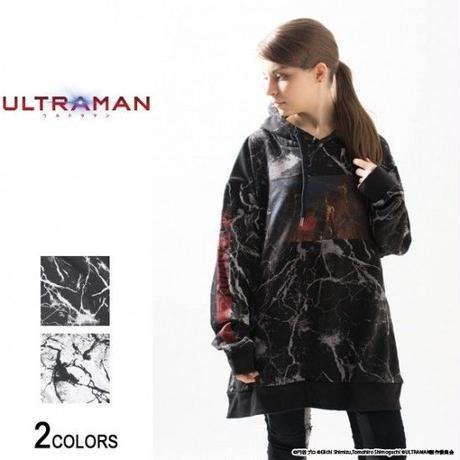 『ULTRAMAN』 エースキラー サイドジップ・クラック・パーカー(男女兼用)【backside of tokyo】