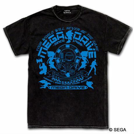 MEGA DRIVE 30th デニムスタイル Tシャツ -ウォッシュブラックデニム-【GAMES GLORIOUS】