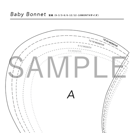2e chests_Baby  bonnet sewing pattern (PDF)