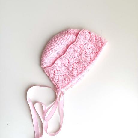 pink knitting hat (dead stock)