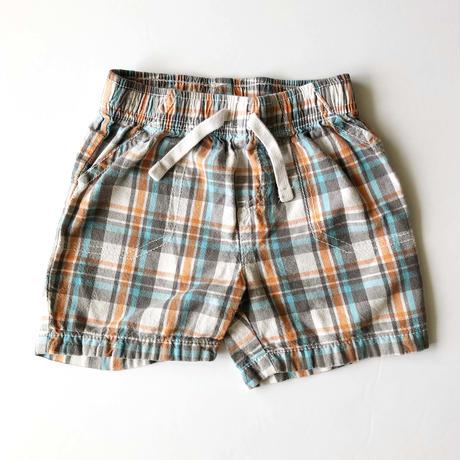 plaid pants _orange mix