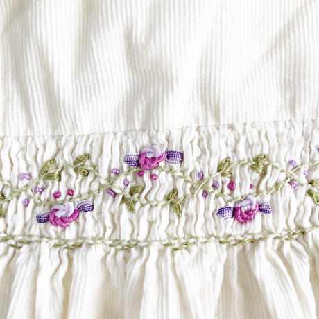 embroidery corduroy dress