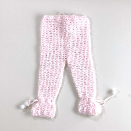 pink knitting pants