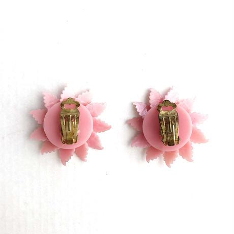 60s clip on earrings (dead stock) _pearl pink