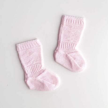 pink knitting booties (dead stock)