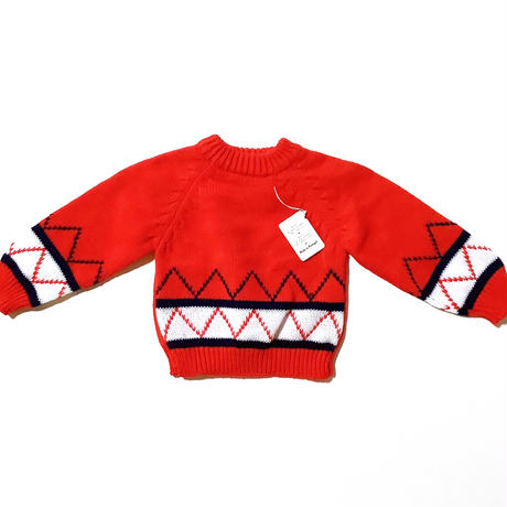 red knitting sweater (dead stock)