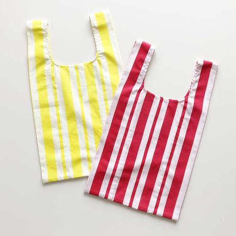 mė stripe bag_Raspberry Red/Lemon Yellow