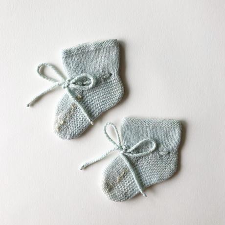 knit crochet booties