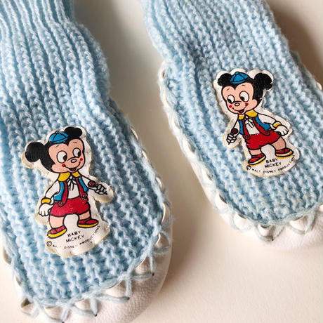 baby mickey moccasins socks