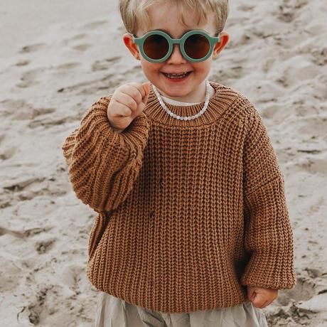 GRECH&CO. SUSTAINABLE KIDS SUNGLASSES_BUFF/FERN/STONE