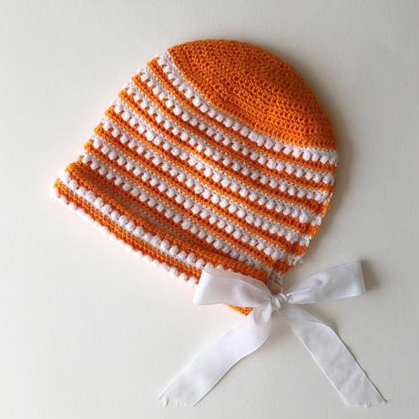 70s crochet bonnet