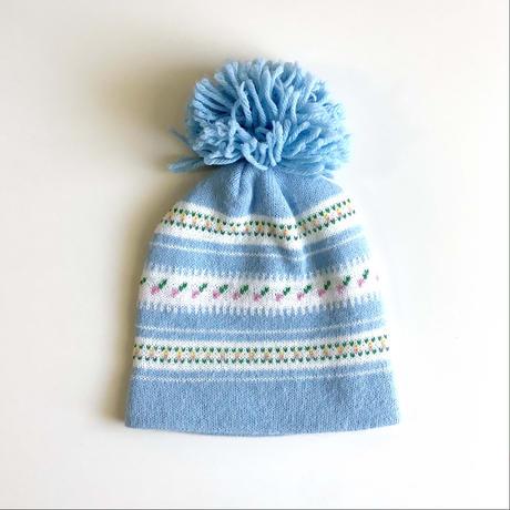 flower knitting hat (dead stock)